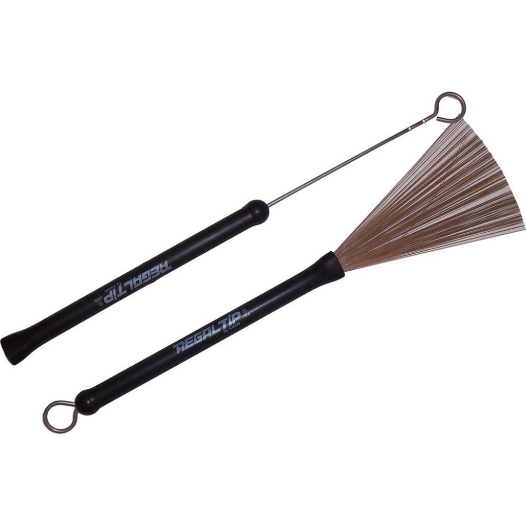 Regal Tip 583R Classic Wire Brush Drum Stick (Rubber Handle)