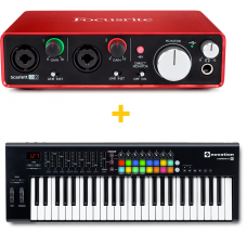 FOCUSRITE SCARLETT 2I2 (2ND GEN) + NOVATION LAUNCHKEY 49 MK2