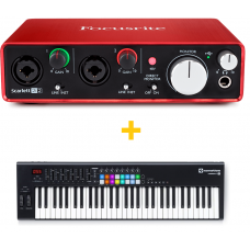 FOCUSRITE SCARLETT 2I2 (2ND GEN) + NOVATION LAUNCHKEY 61 MK2