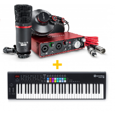 FOCUSRITE SCARLETT 2I2 STUDIO PACK (2ND GEN) + NOVATION LAUNCHKEY 61 MK2