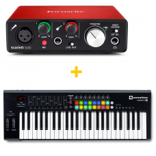 FOCUSRITE SCARLETT SOLO (2ND GEN) + NOVATION LAUNCHKEY 49 MK2