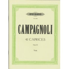 Campagnoli 41 Caprices op.22 for Viola (Peters Edition)