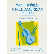 Aaron Minsky 3 American pieces for Viola