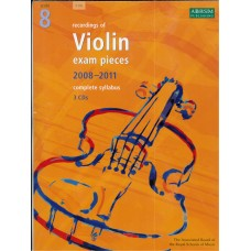 ABRSM Recordings of Violin Exam Pieces Grade 8 with 3CD (2008-11)