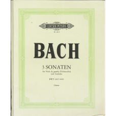 Bach 3 Sonaten for Viola and Cello BWV1027-29