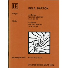 Bela Bartok 44 Duets for Two Violins