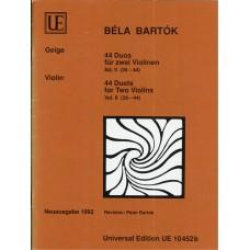 Bela Bartok 44 Duets for Two Violins