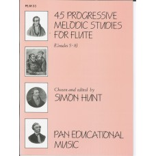 45 Progressive Melodic Studies for Flute