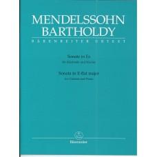 Mendelssohn Bartholdy Sonata in E Flat Major for Clarinet