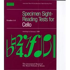 Specimen Sight Reading Tests for Cello Grade 1-5