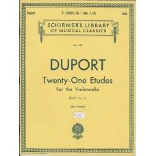 Duport Twenty-One Etudes for the Violoncello
