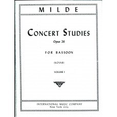 Milde Concert Studies for Bassoon Op.26
