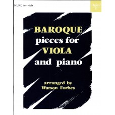 Baroque Pieces for Viola (Oxford Press)
