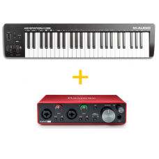 M-Audio Keystation 49 MK3 + Focusrite Scarlett 2i2 (3rd Gen)