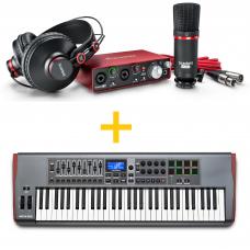 Focusrite Scarlett 2i2 Studio (2 Gen) + Novation Impulse 61