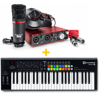 FOCUSRITE SCARLETT 2I2 STUDIO PACK (2ND GEN) + NOVATION LAUNCHKEY 49 MK2