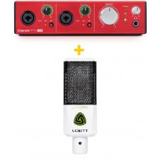 Focusrite Clarett 2 PRE USB + Lewitt LCT240 PRO Value Pack (WH) + LCT50PSx magnetic pop filter