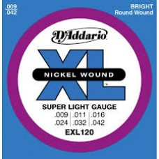 Daddario EXL-120 electric Guitar Strings Set